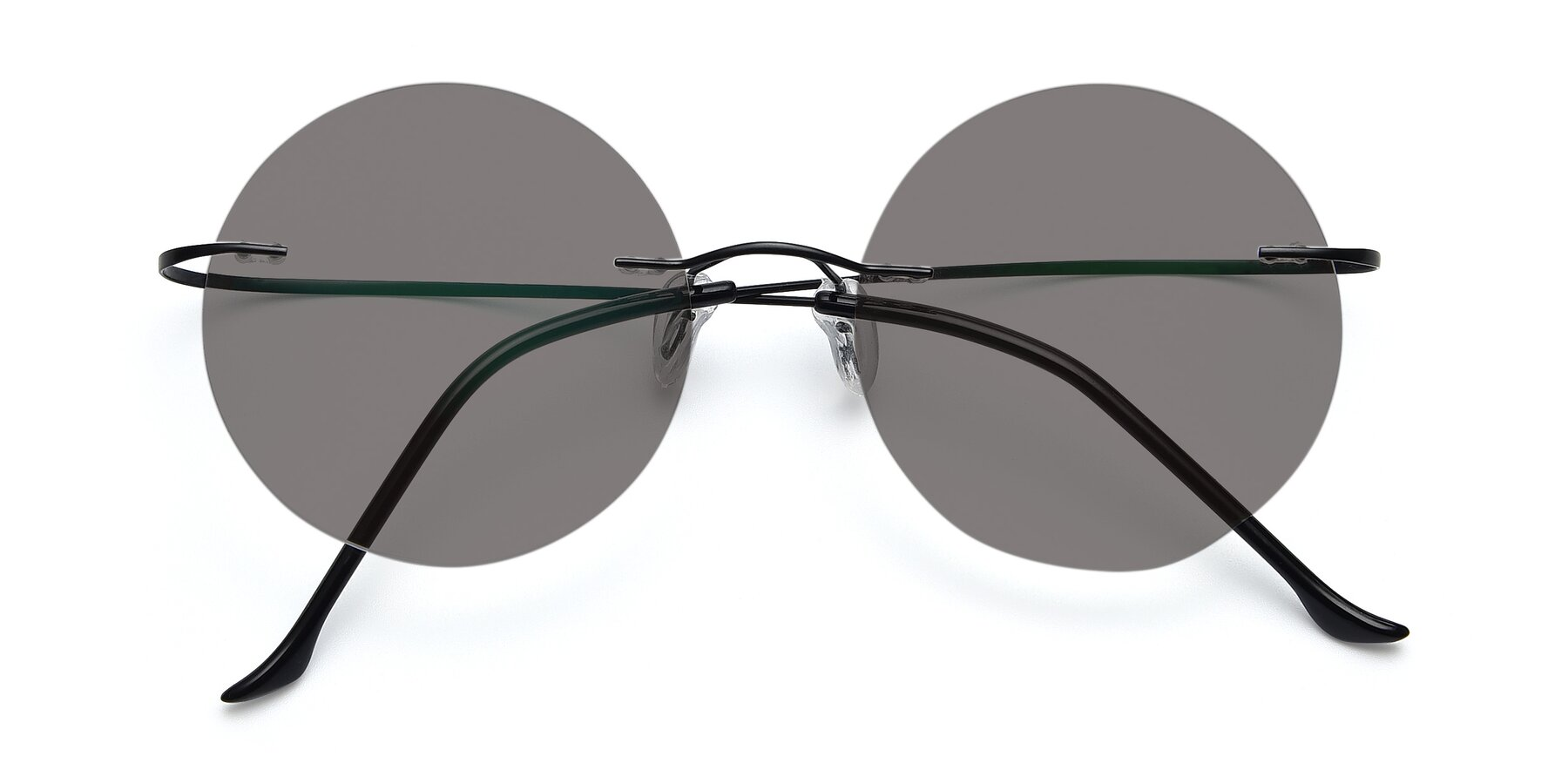 Folded Front of Artist in Black with Medium Gray Tinted Lenses