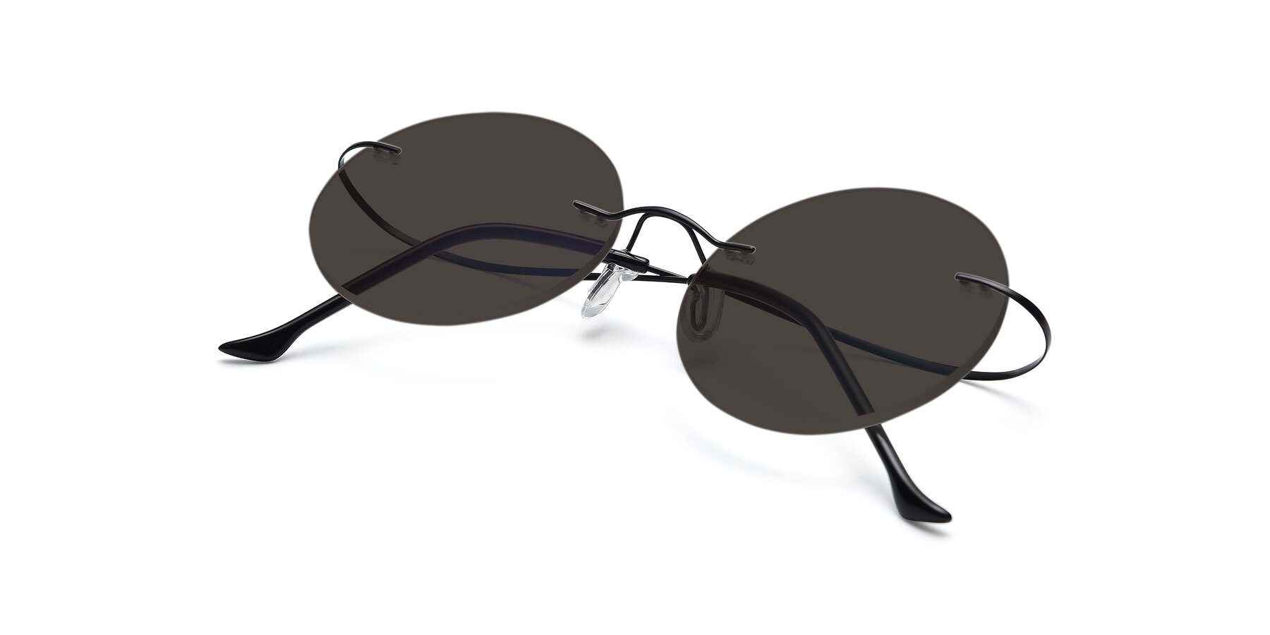 View of Artist in Black with Gray Tinted Lenses