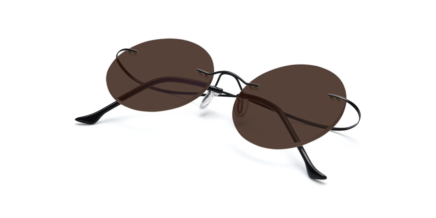 View of Artist in Black with Brown Tinted Lenses