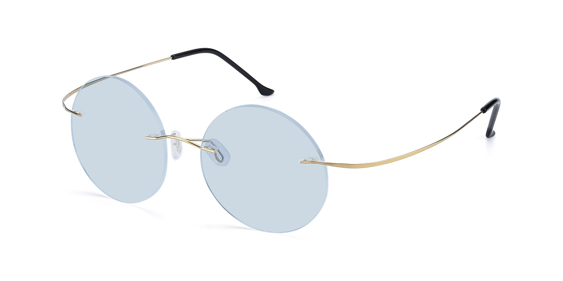 Angle of Artist in Gold with Light Blue Tinted Lenses