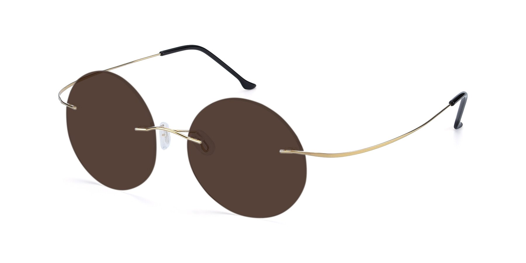 Angle of Artist in Gold with Brown Tinted Lenses
