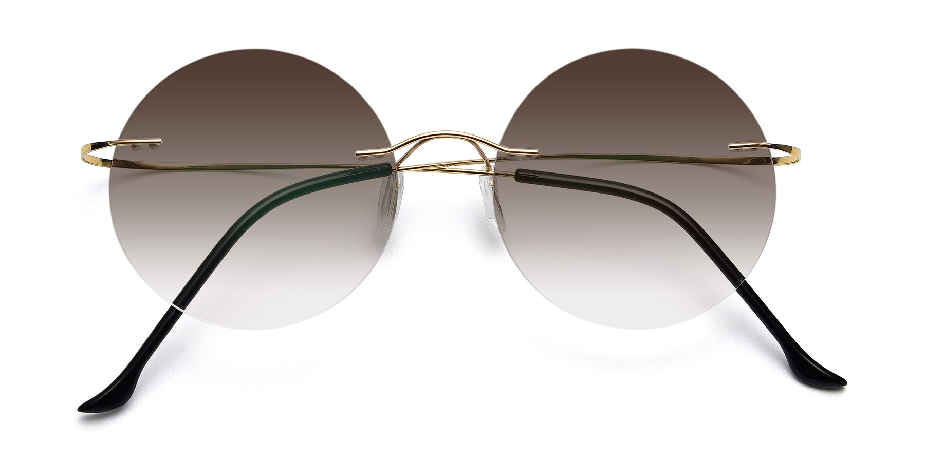 Folded Front of Artist in Gold with Brown Gradient Lenses