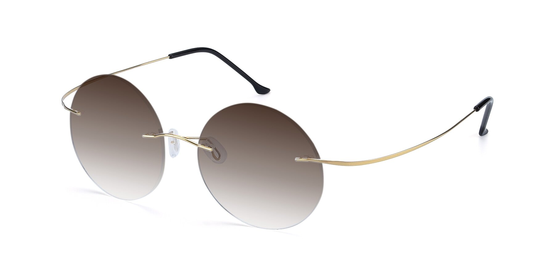 Angle of Artist in Gold with Brown Gradient Lenses