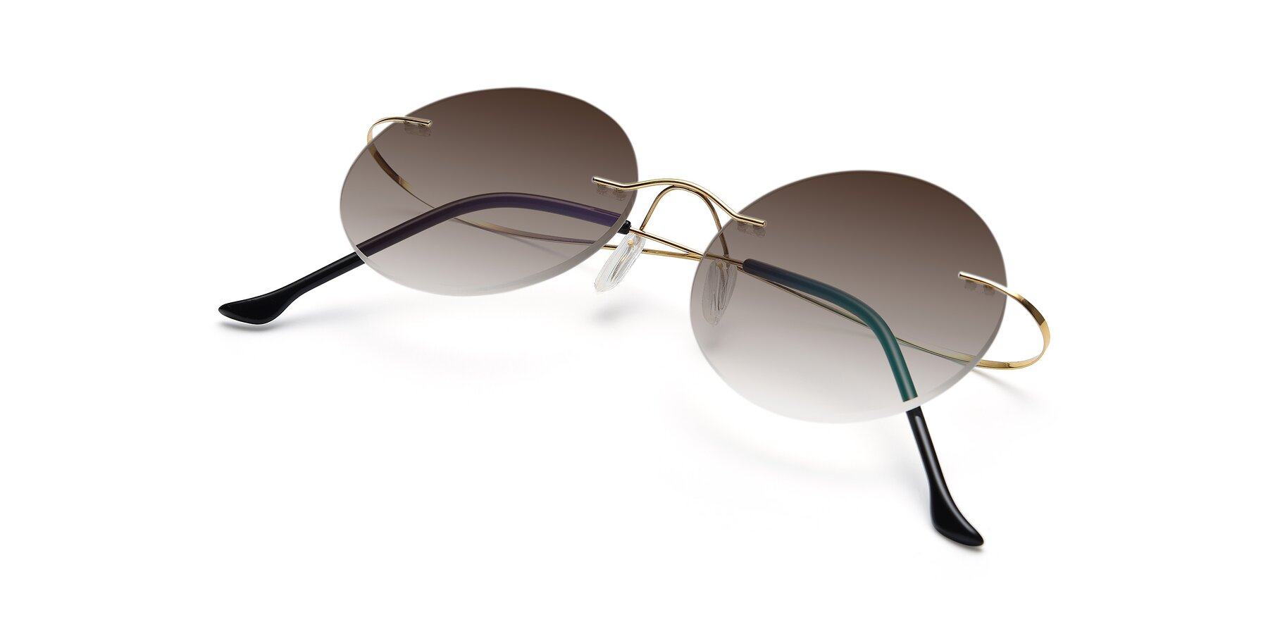 View of Artist in Gold with Brown Gradient Lenses