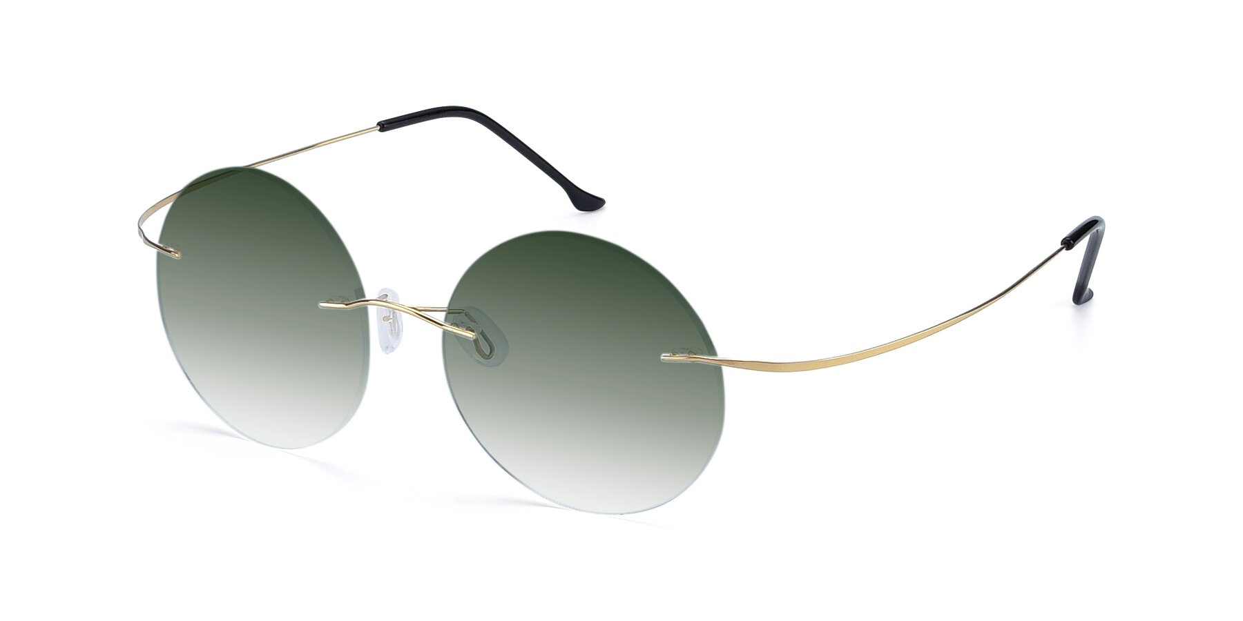 Angle of Artist in Gold with Green Gradient Lenses