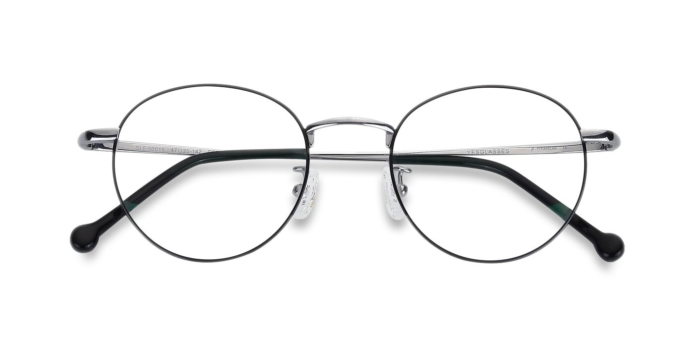 SLE50015 - Black / Silver Anti-Blue Light Glasses