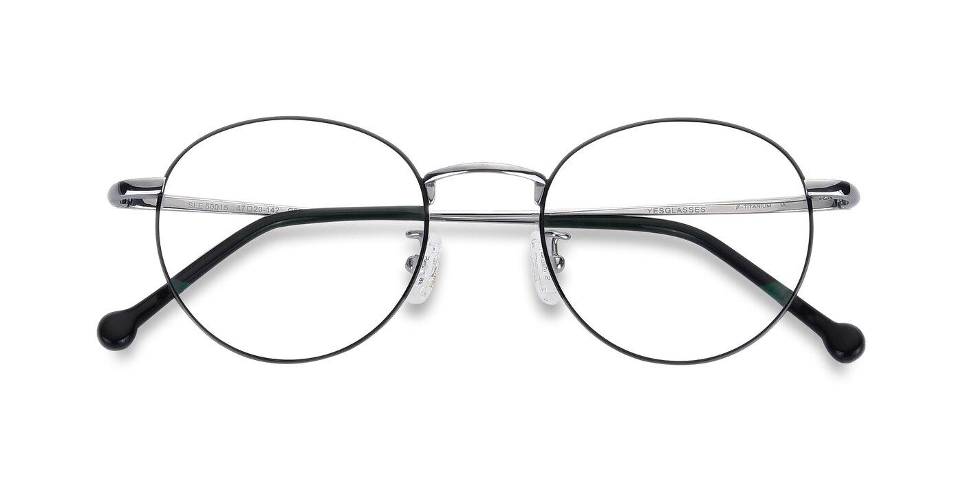 SLE50015 - Black / Silver Eyeglasses