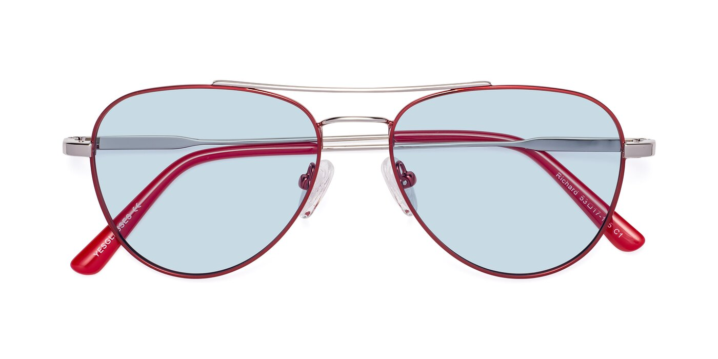 Richard - Red / Silver Tinted Sunglasses