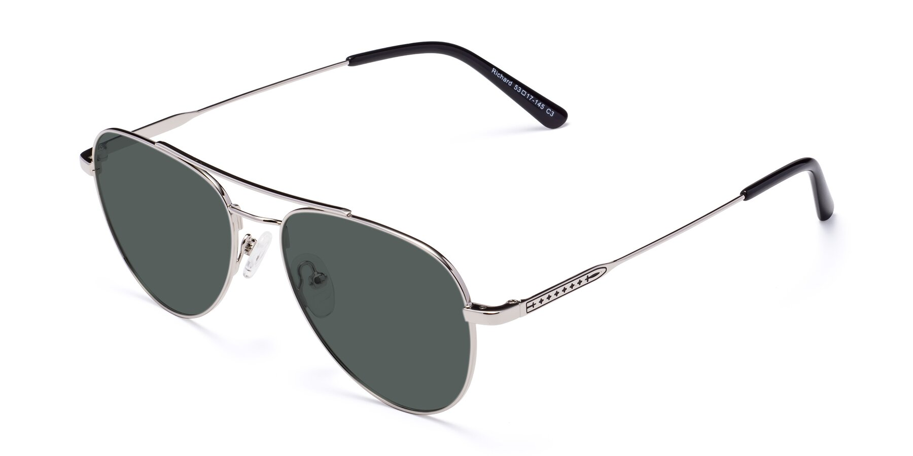 Angle of Richard in Silver with Gray Polarized Lenses