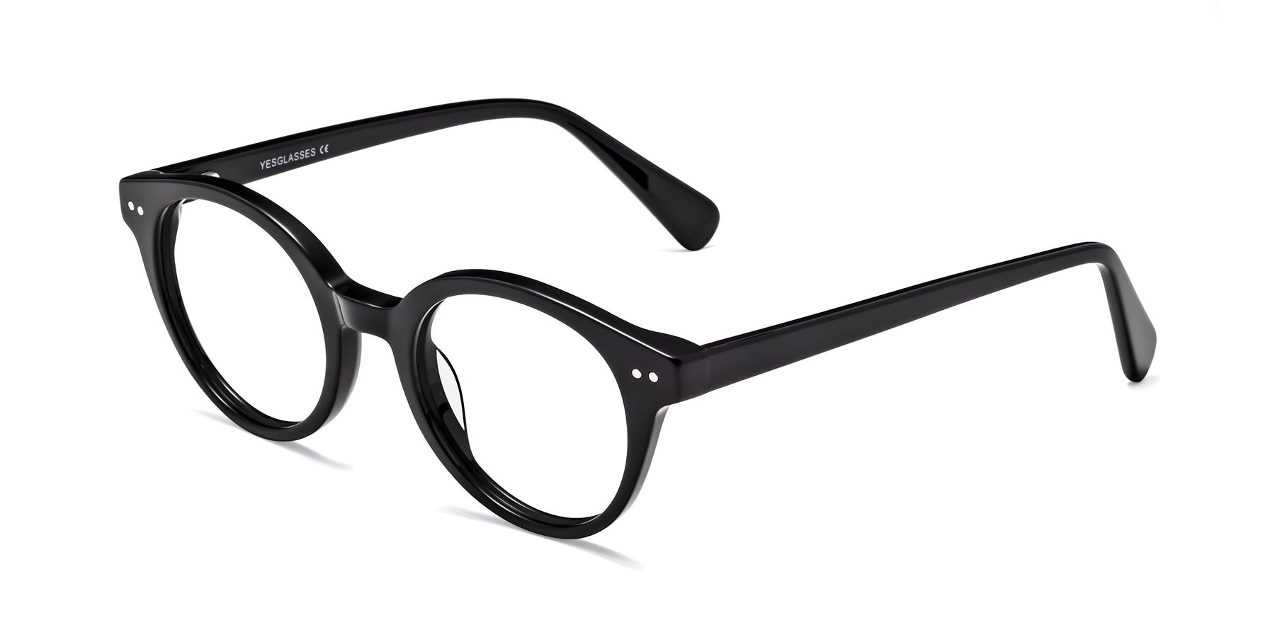 Angle of 17277 in Black with Clear Blue Light Blocking Lenses