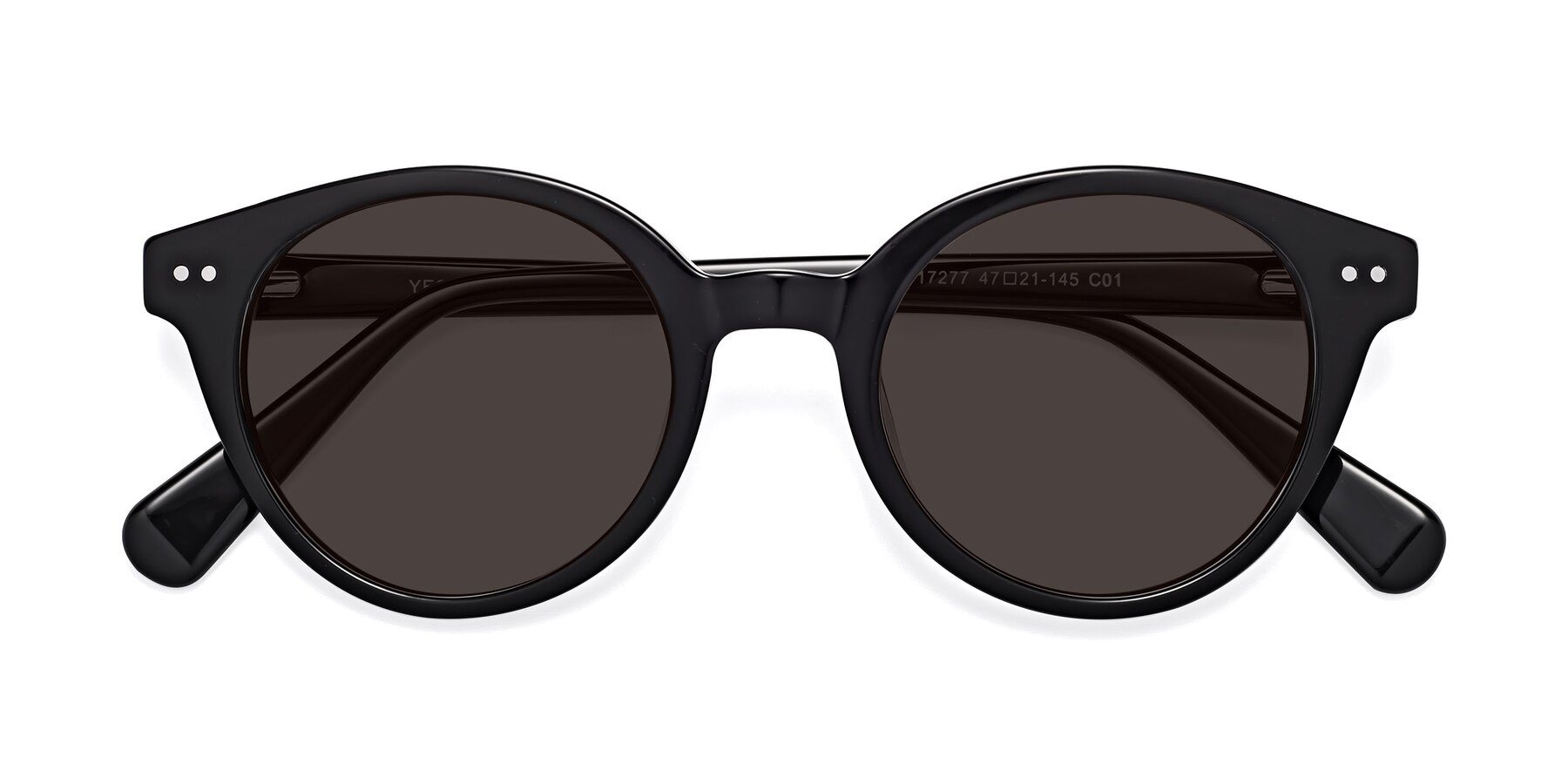 Folded Front of 17277 in Black with Gray Tinted Lenses
