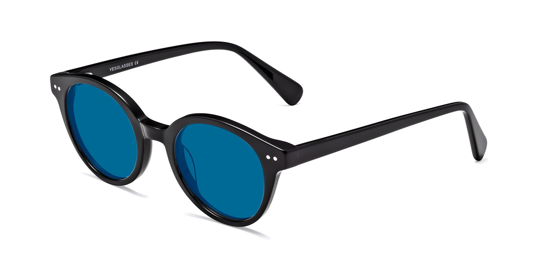Angle of 17277 in Black with Blue Tinted Lenses