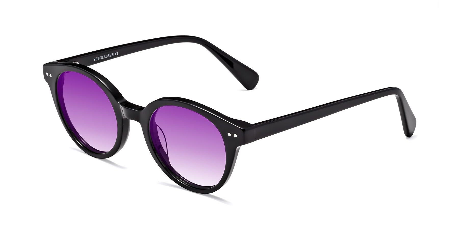 Angle of 17277 in Black with Purple Gradient Lenses