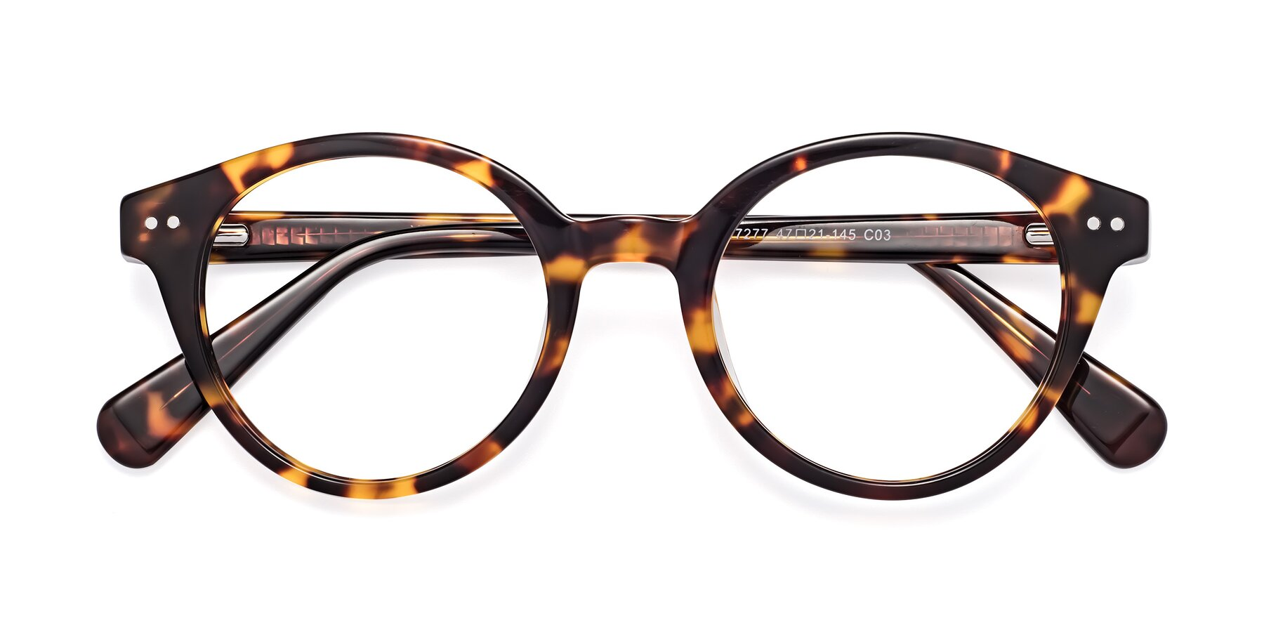 Folded Front of 17277 in Tortoise with Clear Blue Light Blocking Lenses