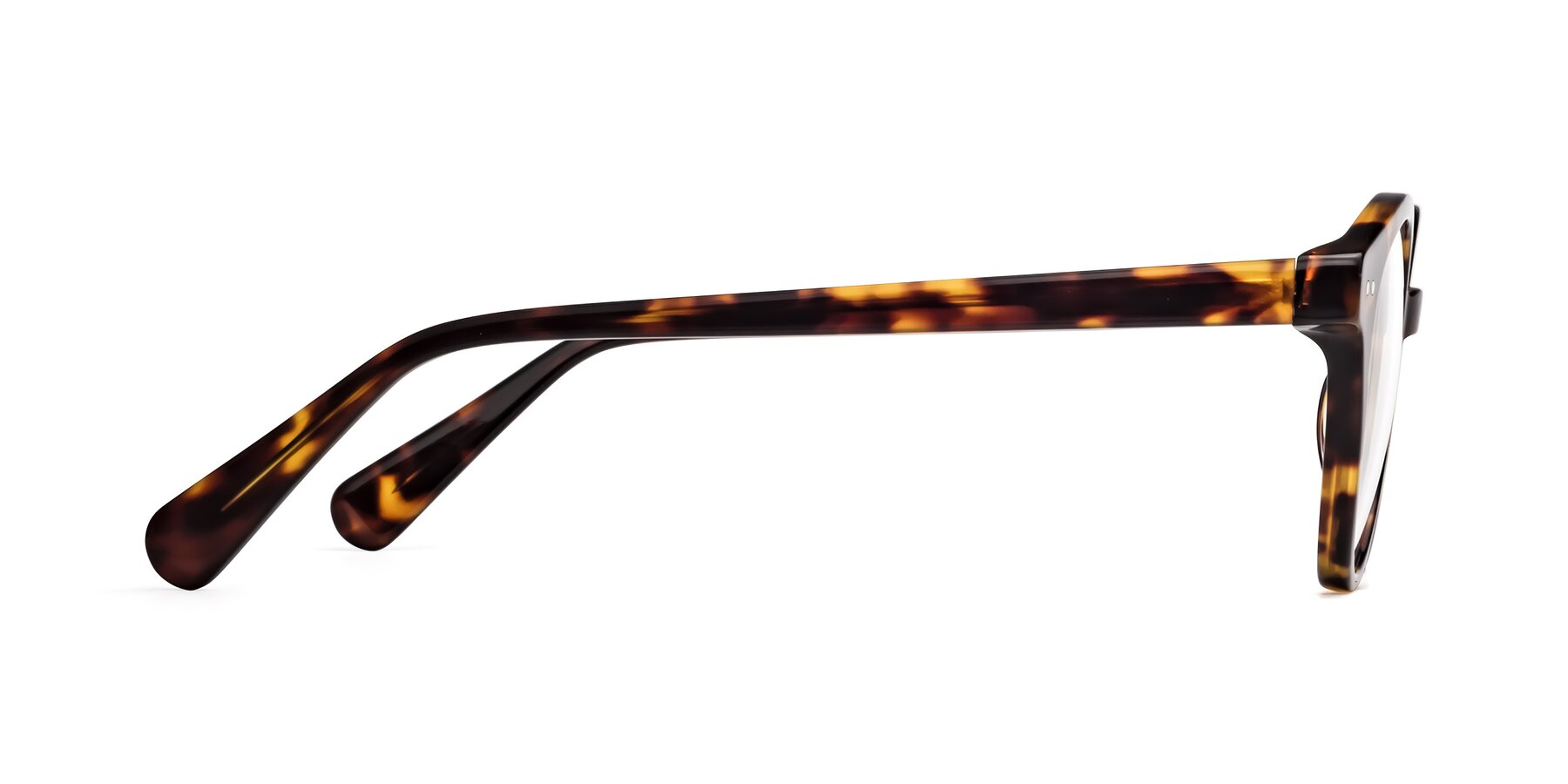 Side of 17277 in Tortoise with Clear Blue Light Blocking Lenses