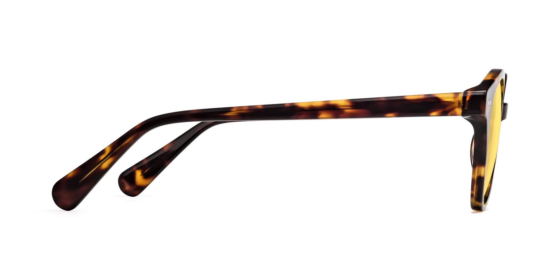 Side of 17277 in Tortoise with Medium Yellow Tinted Lenses