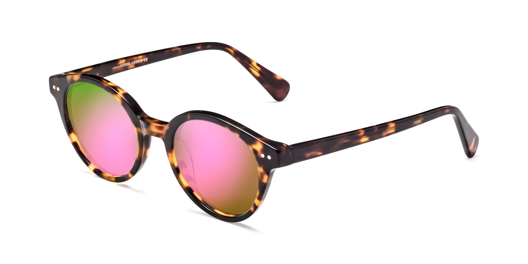 Angle of 17277 in Tortoise with Pink Mirrored Lenses