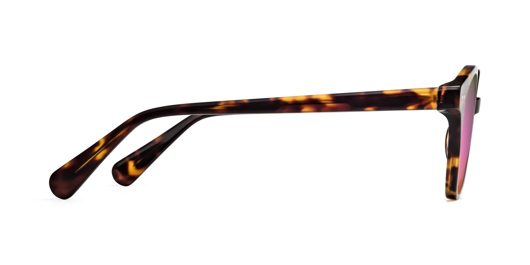 Side of 17277 in Tortoise with Pink Mirrored Lenses