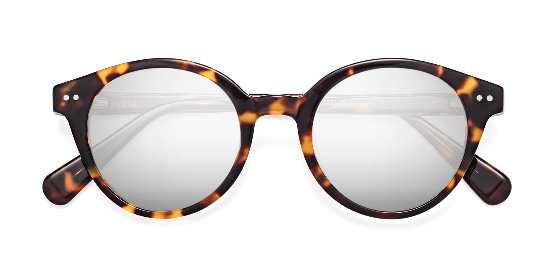 Folded Front of 17277 in Tortoise with Silver Mirrored Lenses