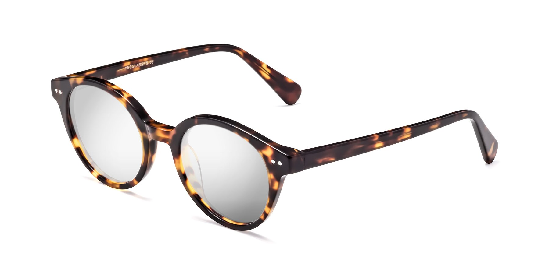 Angle of 17277 in Tortoise with Silver Mirrored Lenses