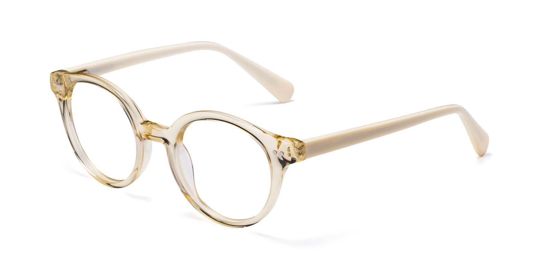 Angle of 17277 in Transparent Beige with Clear Blue Light Blocking Lenses