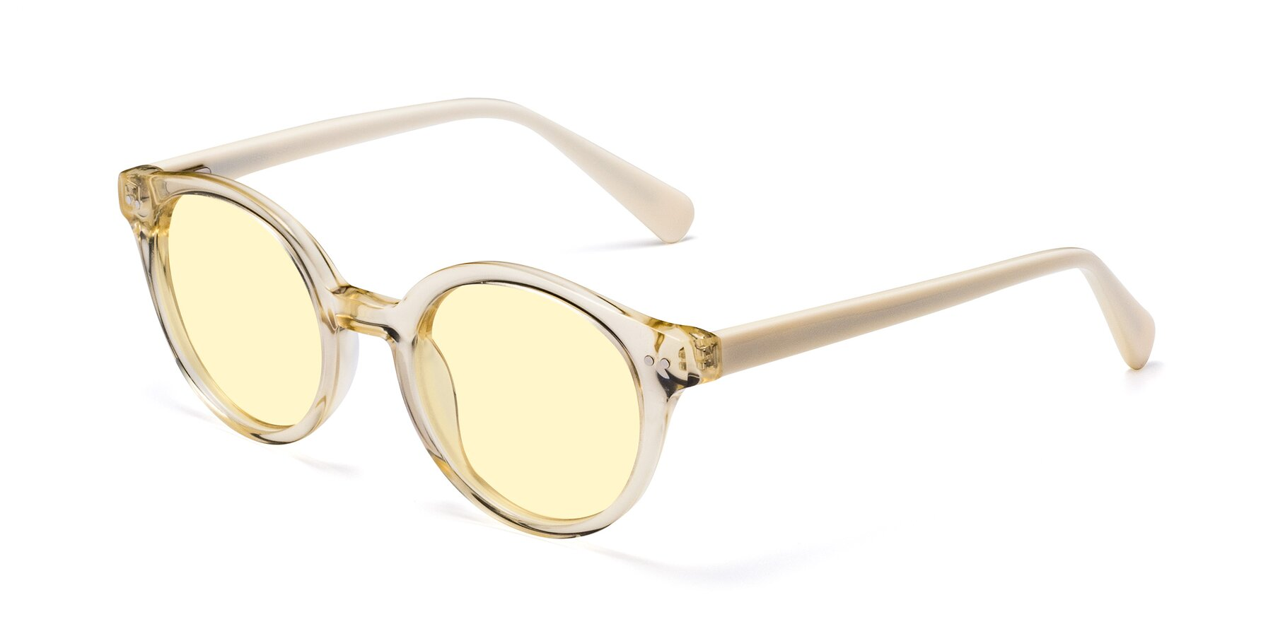 Angle of 17277 in Transparent Beige with Light Yellow Tinted Lenses