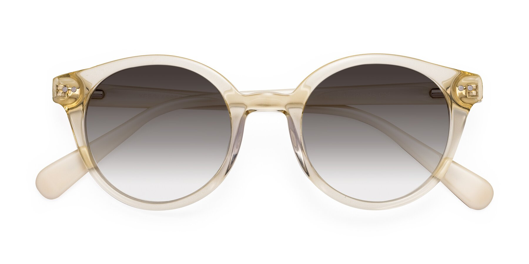 Folded Front of 17277 in Transparent Beige with Gray Gradient Lenses
