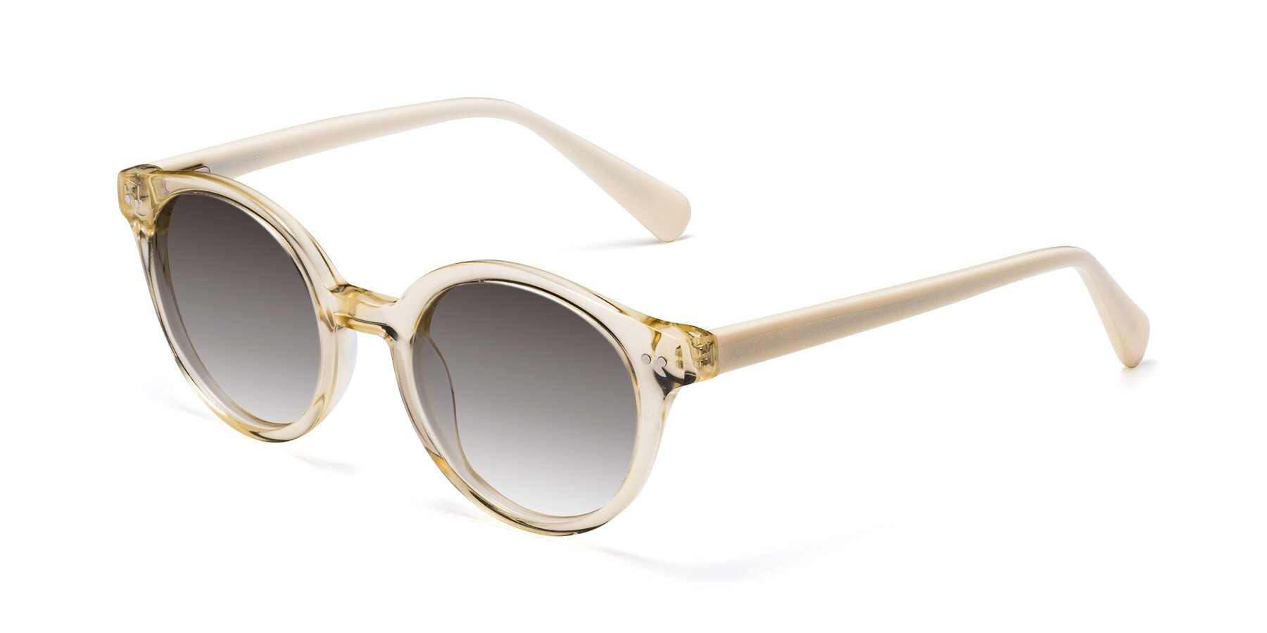 Angle of 17277 in Transparent Beige with Gray Gradient Lenses