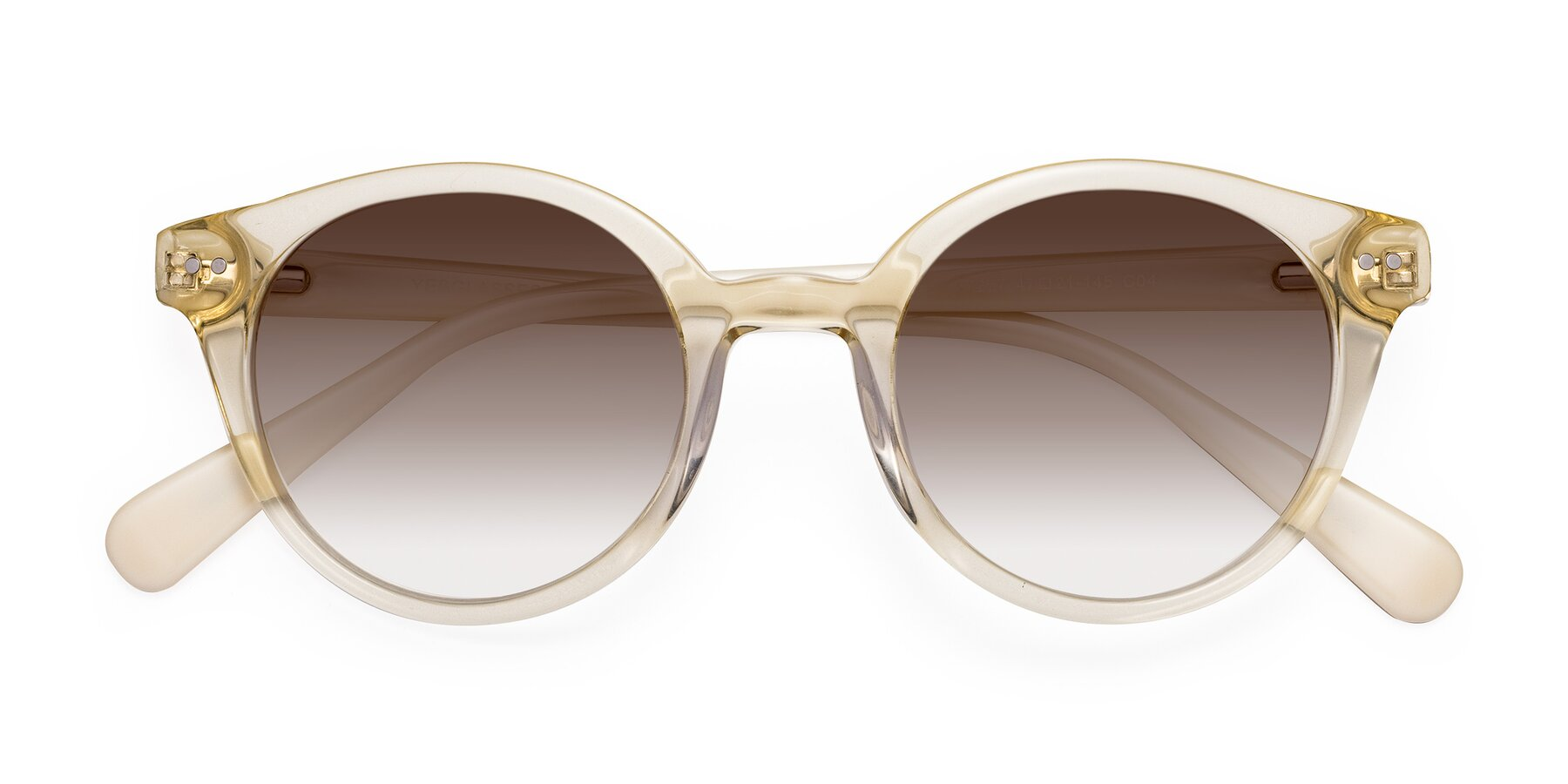 Folded Front of 17277 in Transparent Beige with Brown Gradient Lenses