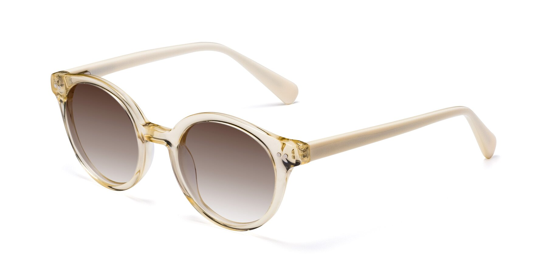 Angle of 17277 in Transparent Beige with Brown Gradient Lenses