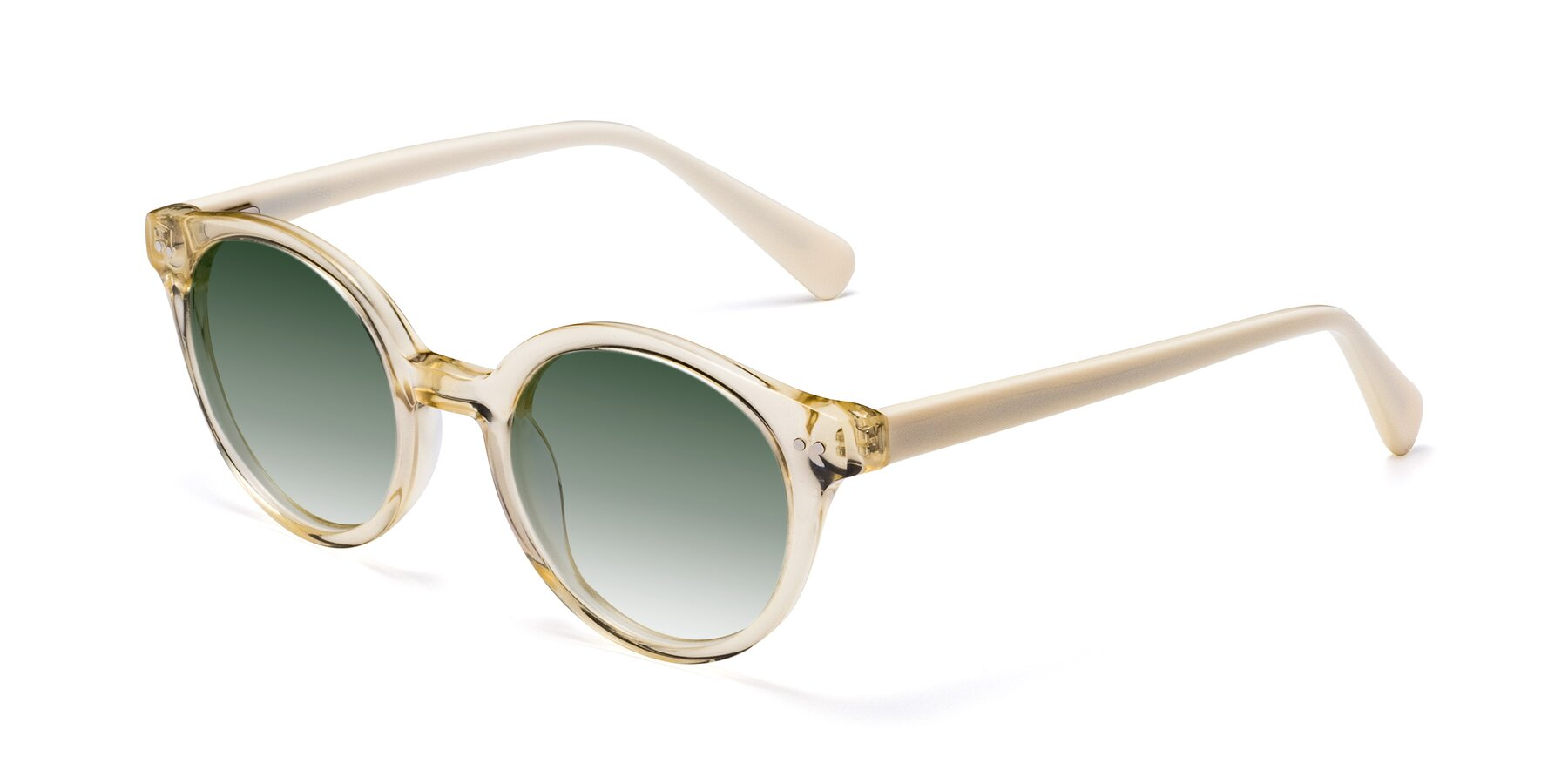 Angle of 17277 in Transparent Beige with Green Gradient Lenses