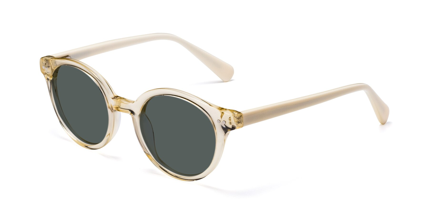 Angle of 17277 in Transparent Beige with Gray Polarized Lenses