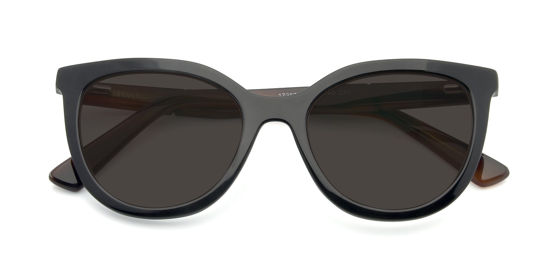 Folded Front of 17287 in Black with Gray Tinted Lenses
