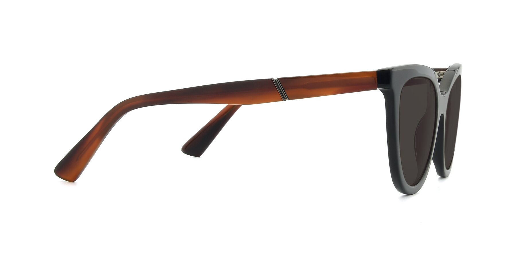 Side of 17287 in Black with Gray Tinted Lenses