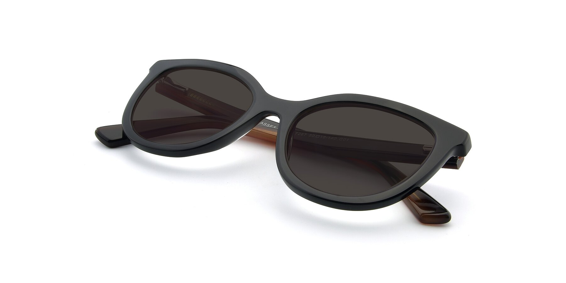 View of 17287 in Black with Gray Tinted Lenses