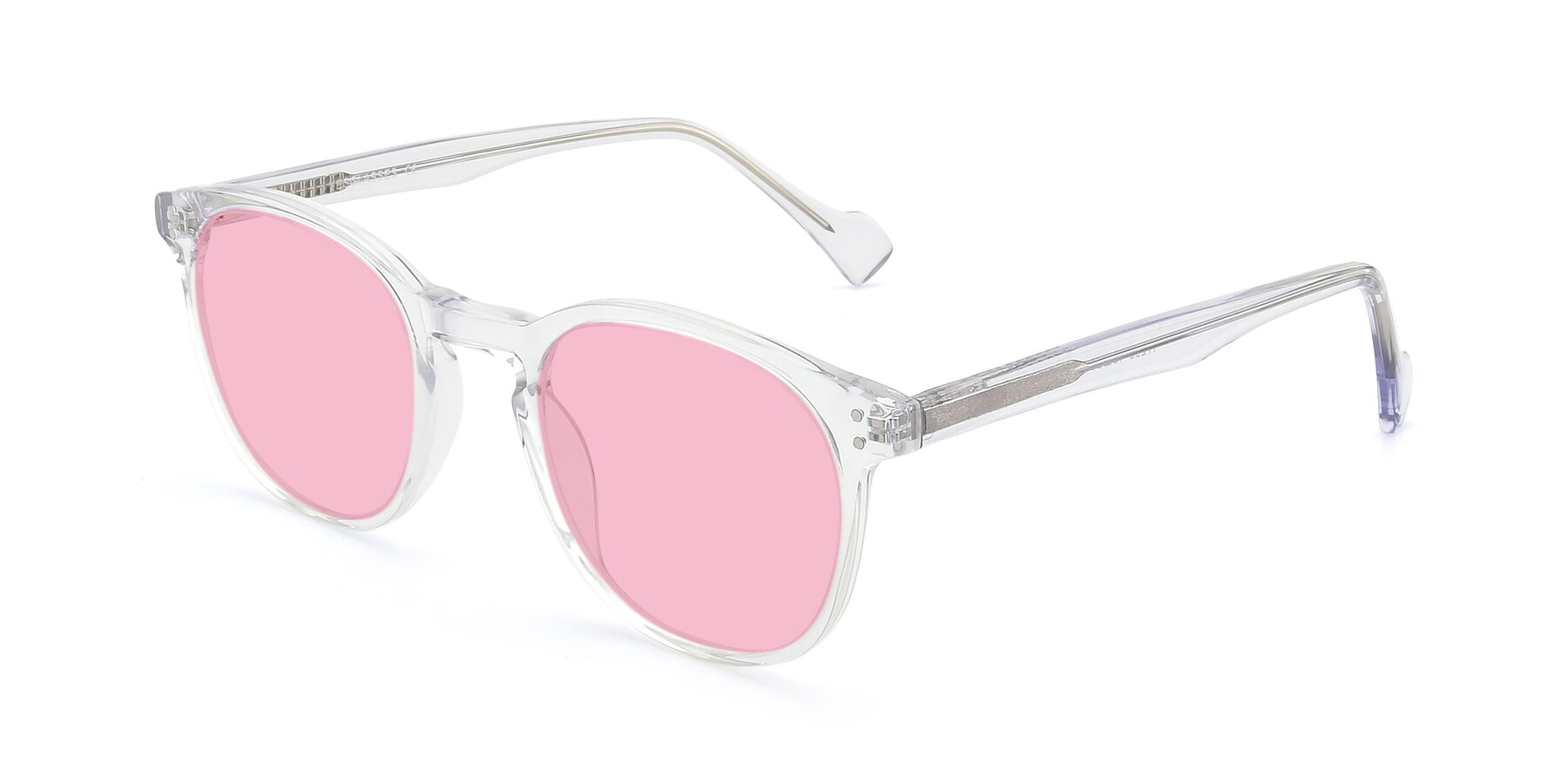 Angle of 17293 in Clear with Medium Pink Tinted Lenses