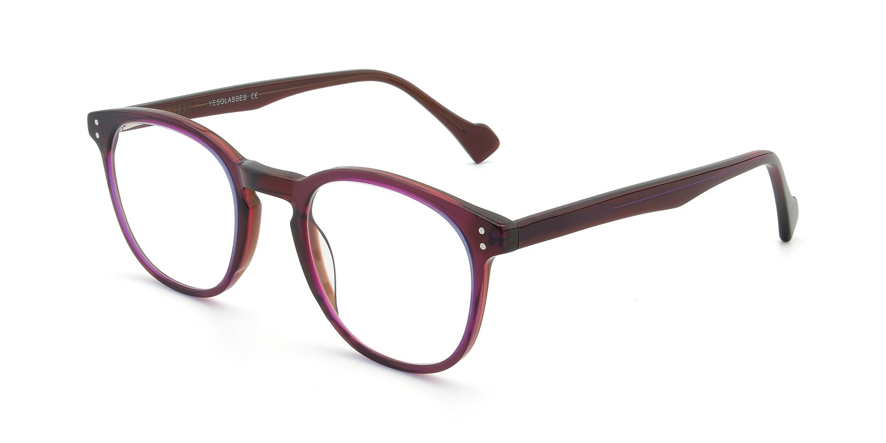 Angle of 17293 in Violet with Clear Eyeglass Lenses