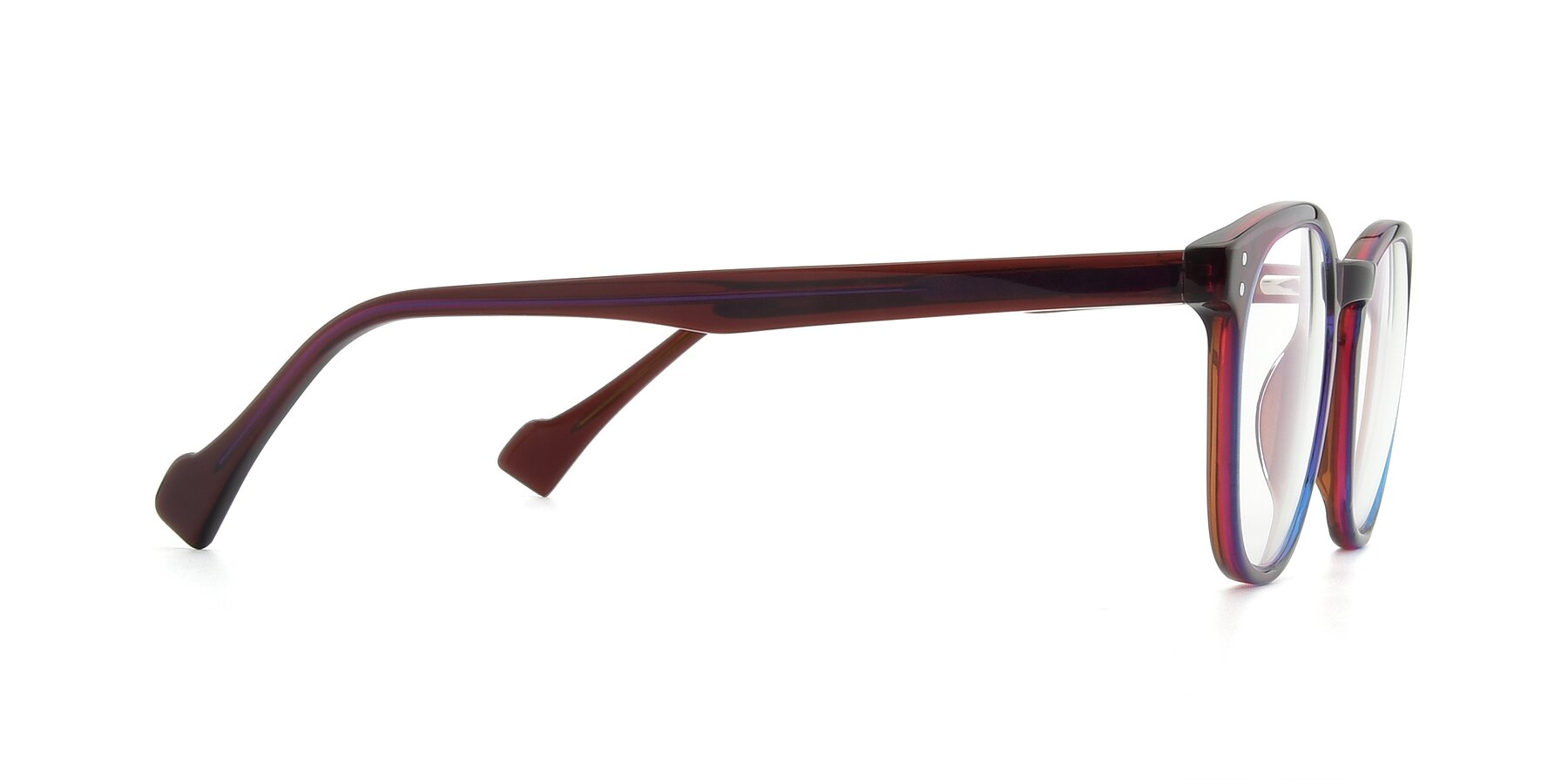 Side of 17293 in Violet with Clear Eyeglass Lenses