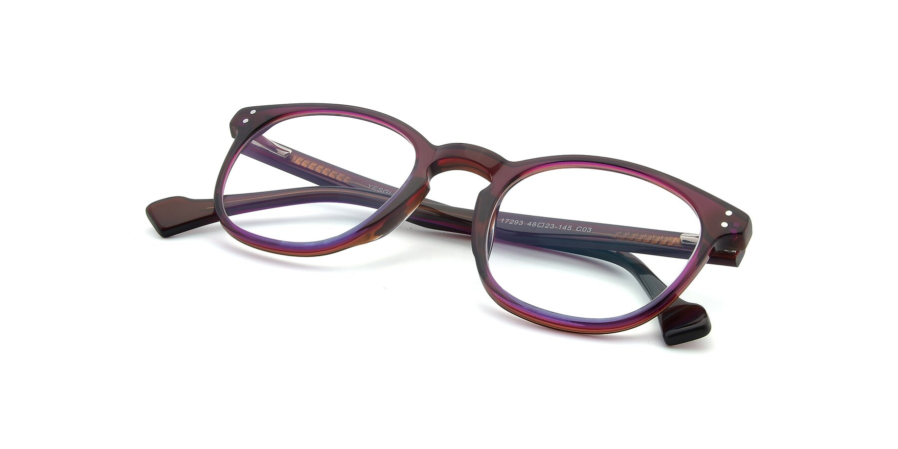 View of 17293 in Violet with Clear Eyeglass Lenses