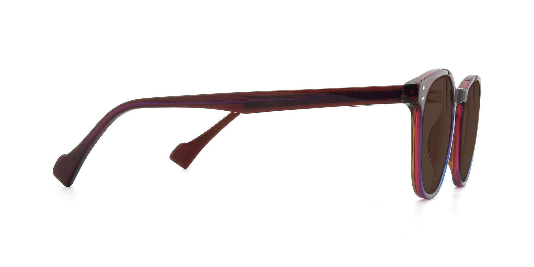 Side of 17293 in Violet with Brown Tinted Lenses