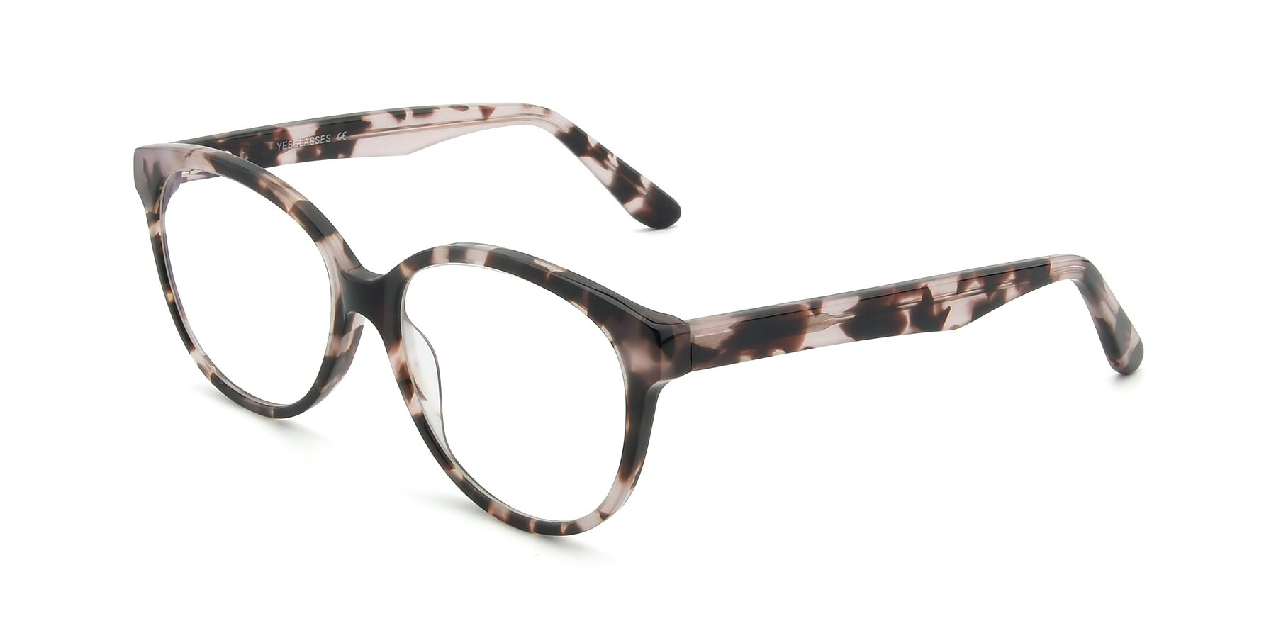 Angle of 17309 in Tortoise Honey with Clear Eyeglass Lenses