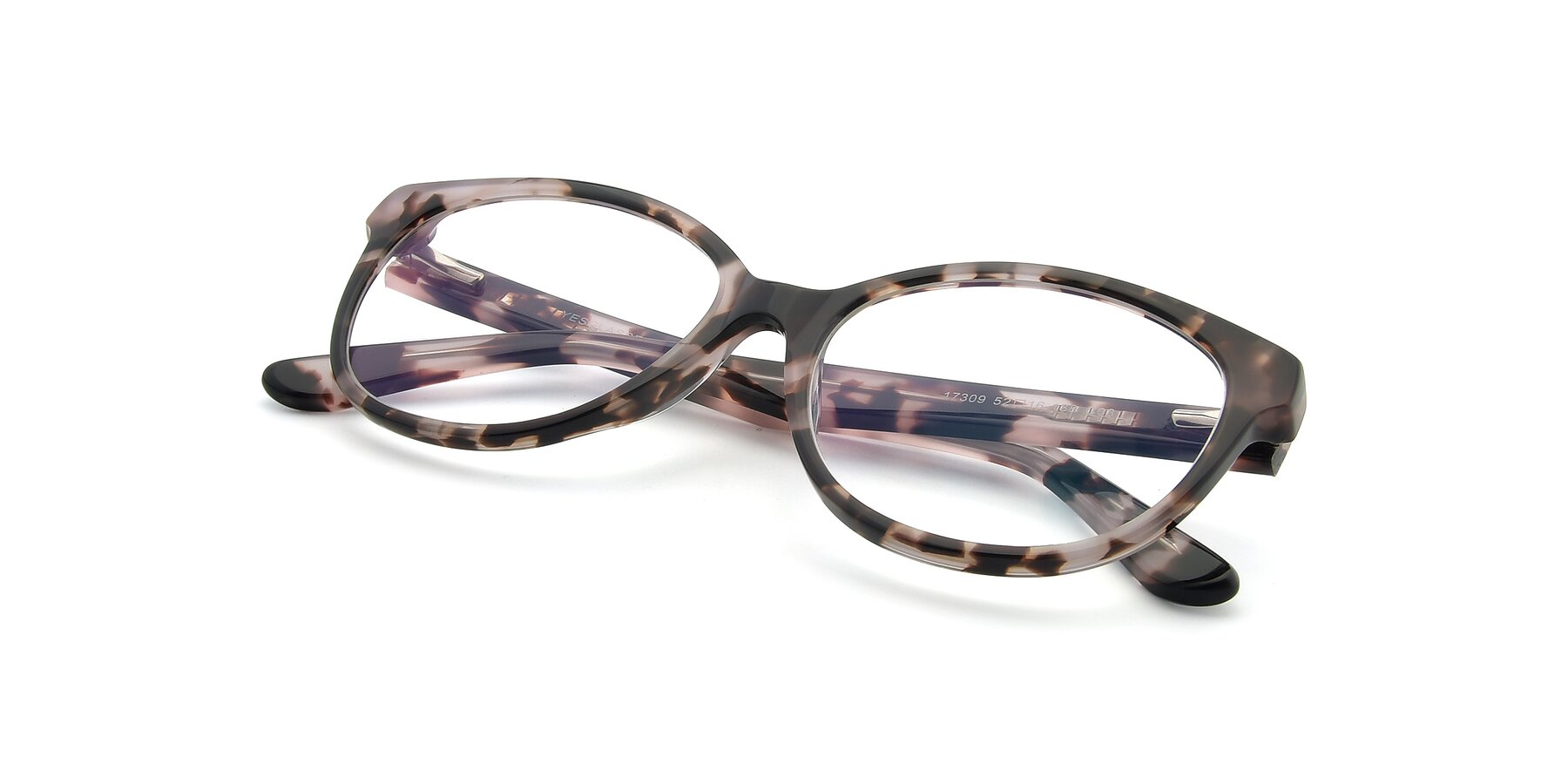 View of 17309 in Tortoise Honey with Clear Eyeglass Lenses