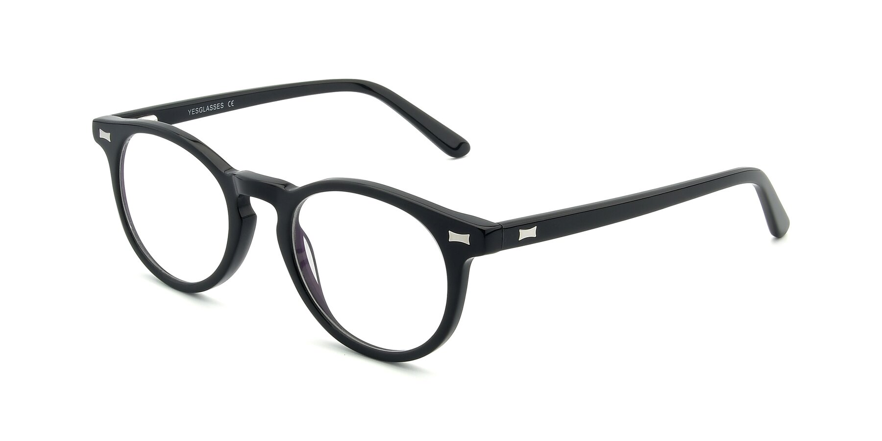 Angle of 17330 in Black with Clear Eyeglass Lenses