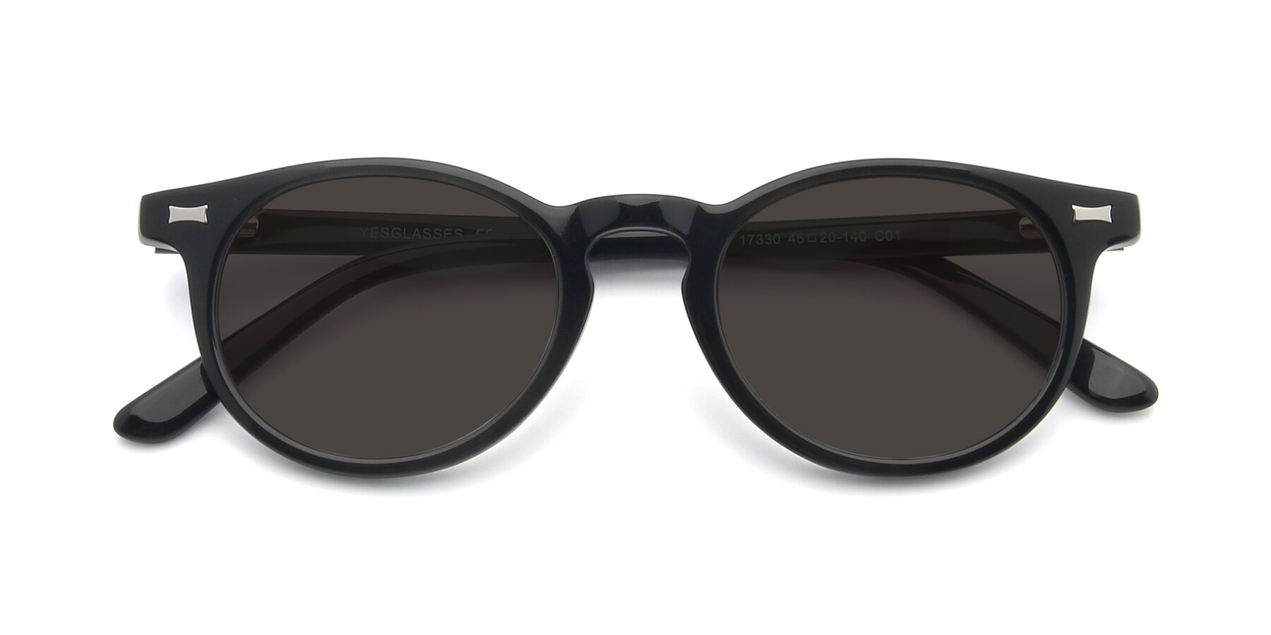 Folded Front of 17330 in Black with Gray Tinted Lenses
