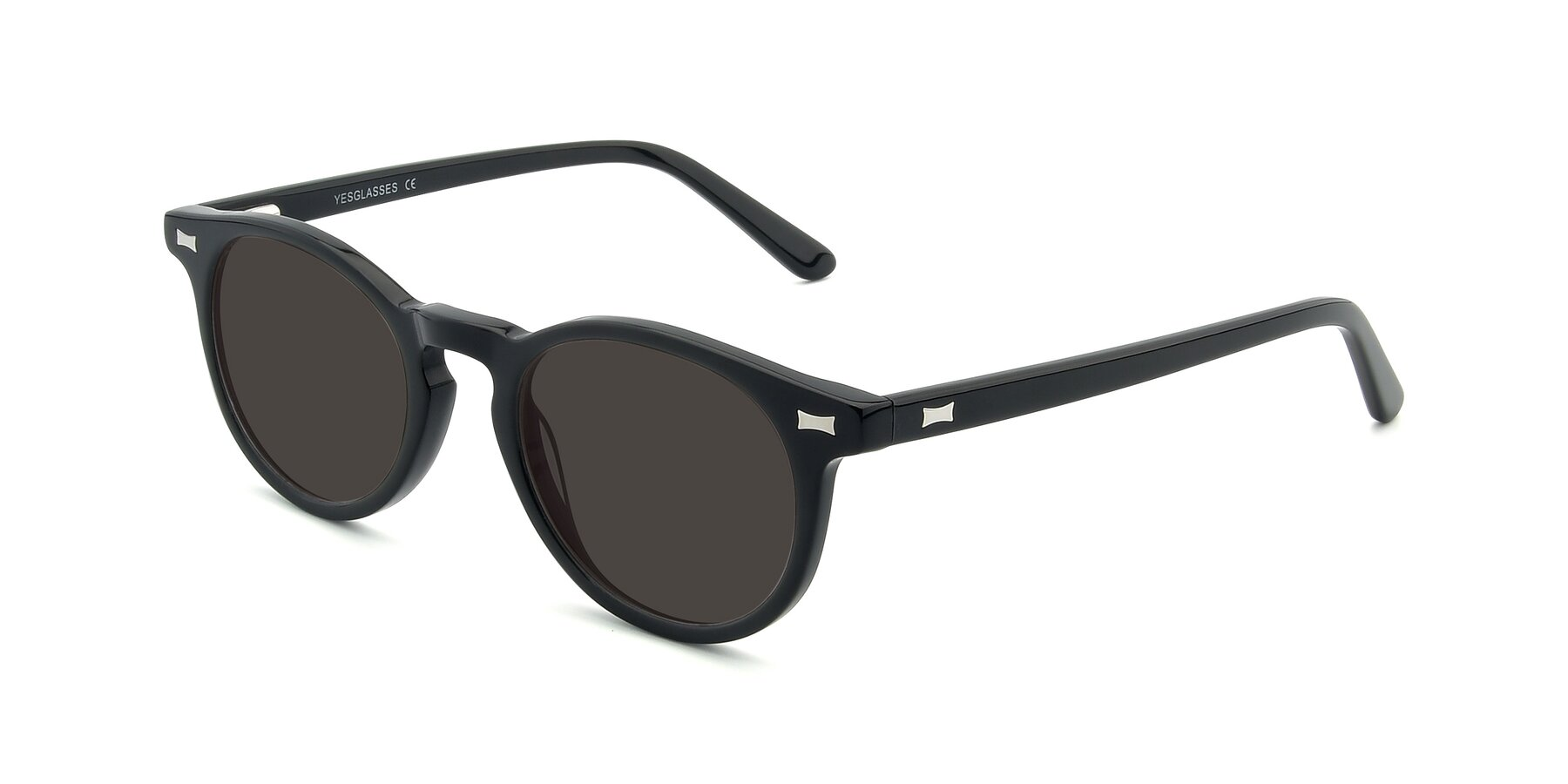 Angle of 17330 in Black with Gray Tinted Lenses