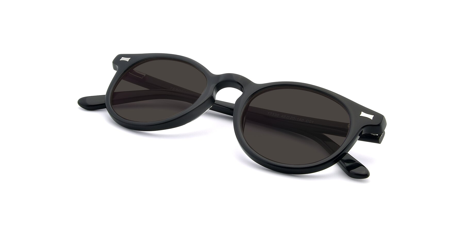 View of 17330 in Black with Gray Tinted Lenses
