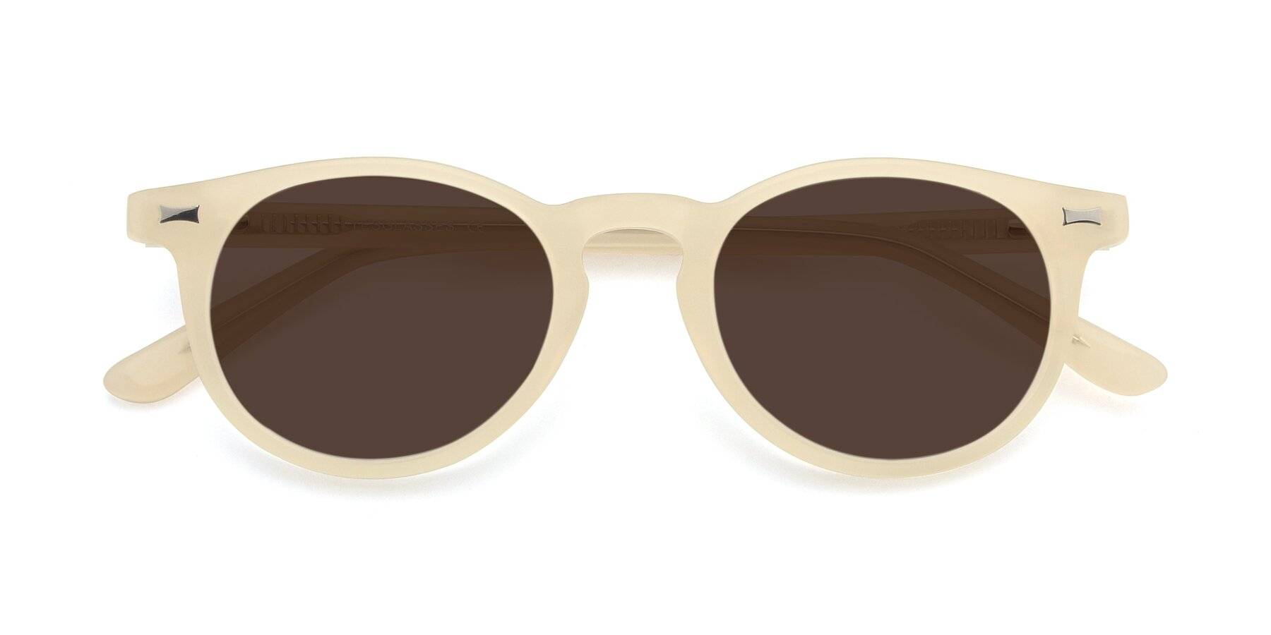 Folded Front of 17330 in Beige with Brown Tinted Lenses