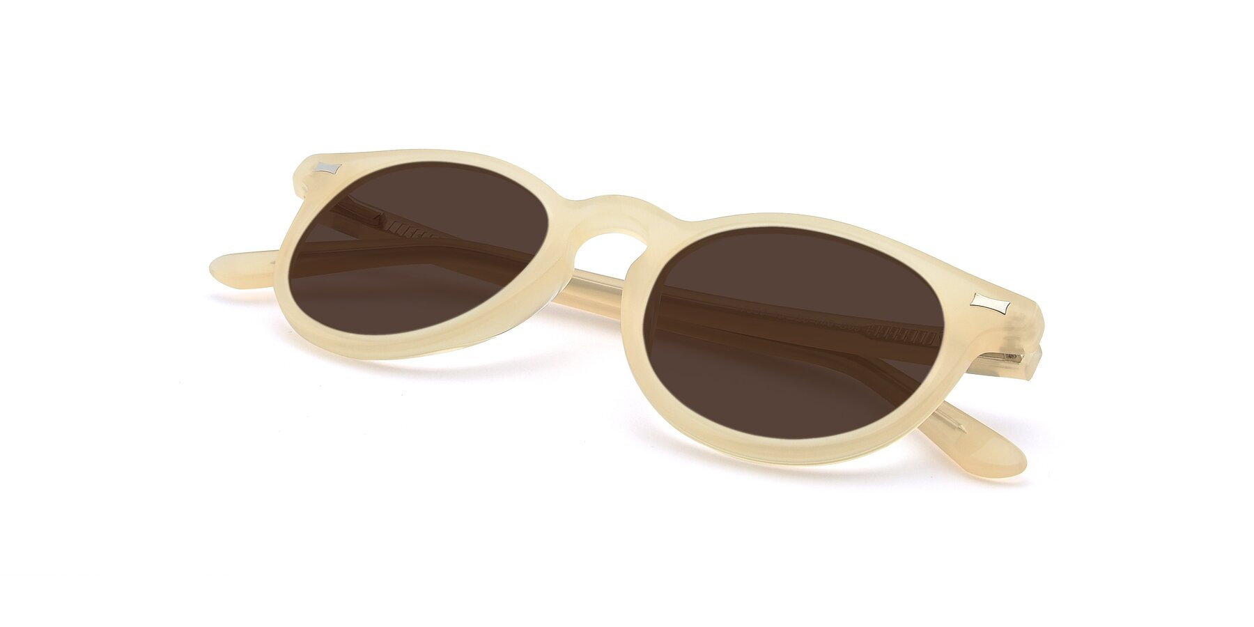View of 17330 in Beige with Brown Tinted Lenses