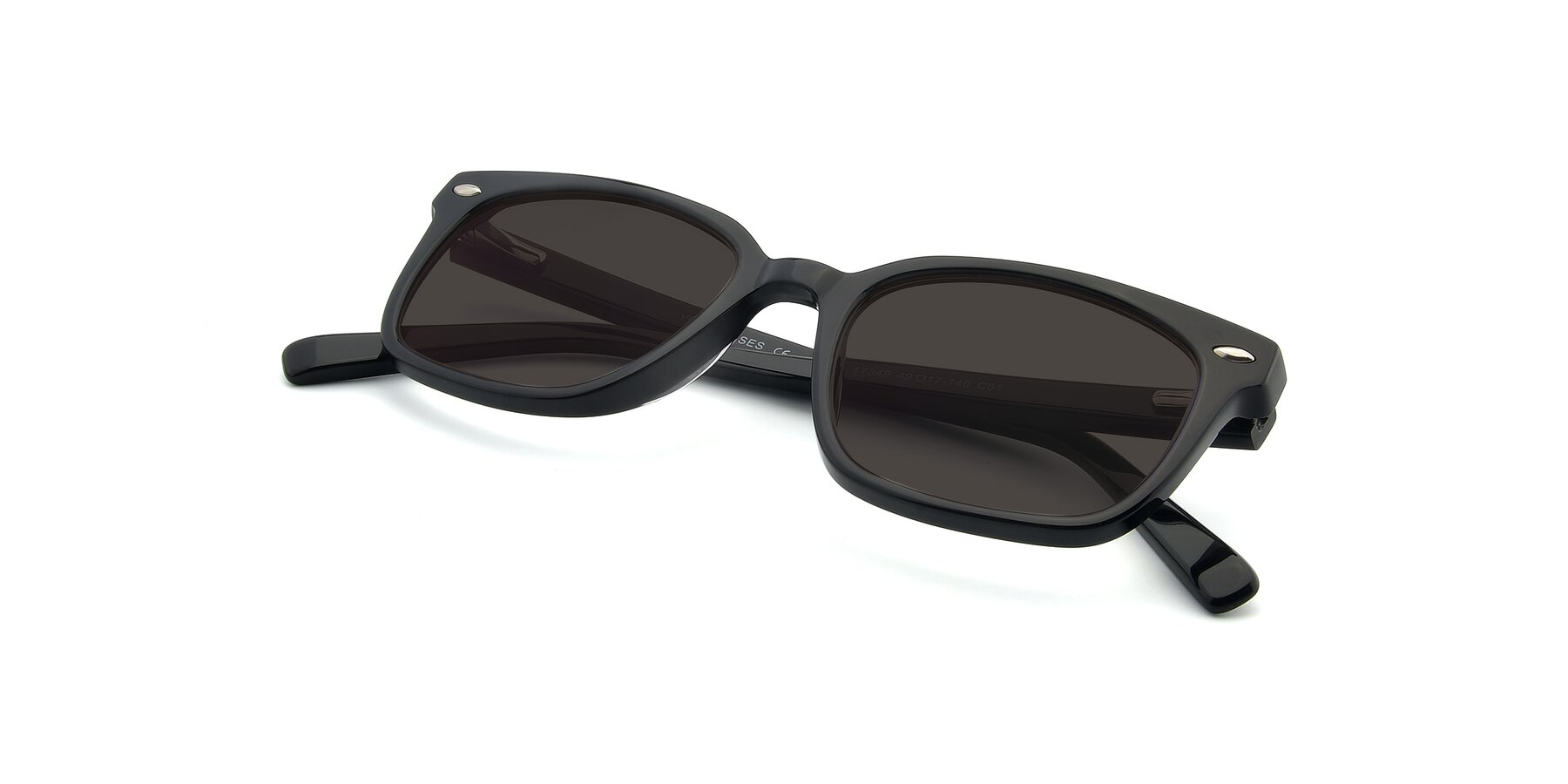 View of 17349 in Black with Gray Tinted Lenses