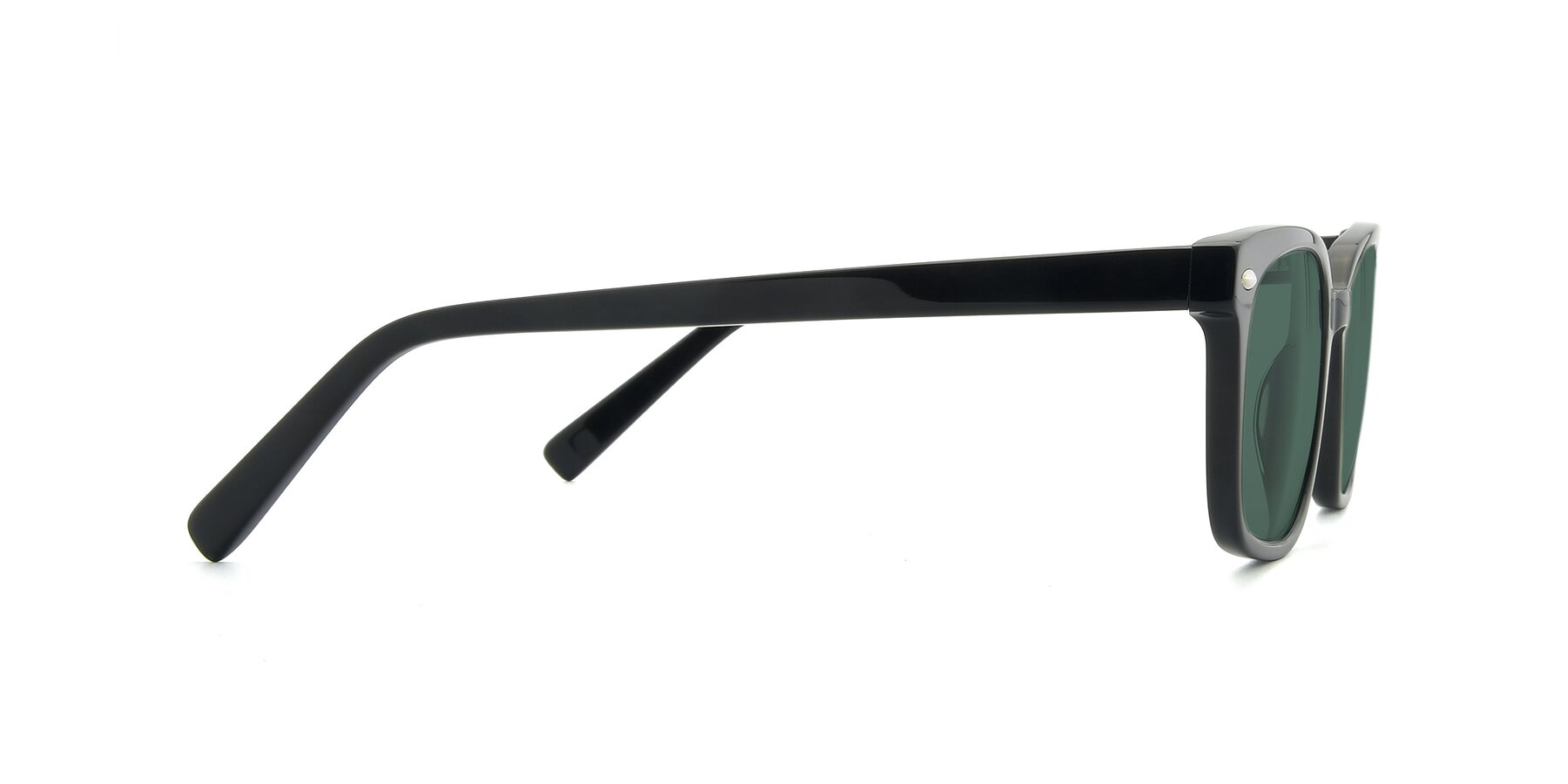 Side of 17349 in Black with Green Polarized Lenses